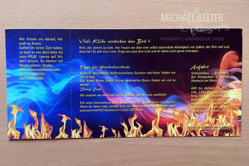 Druckprodukte 01 Michael Belter Photography Einladungskarte als Eintrittskarte