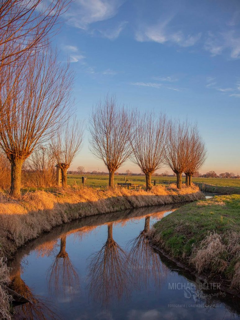 Niederrheinische Landschaft bei Rees-Millingen © Michael Belter Photography