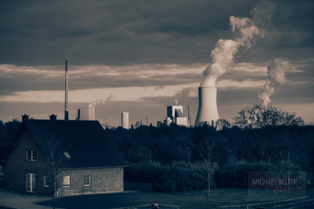 Bild 08: Kraftwerk Walsum von Norden aus gesehen