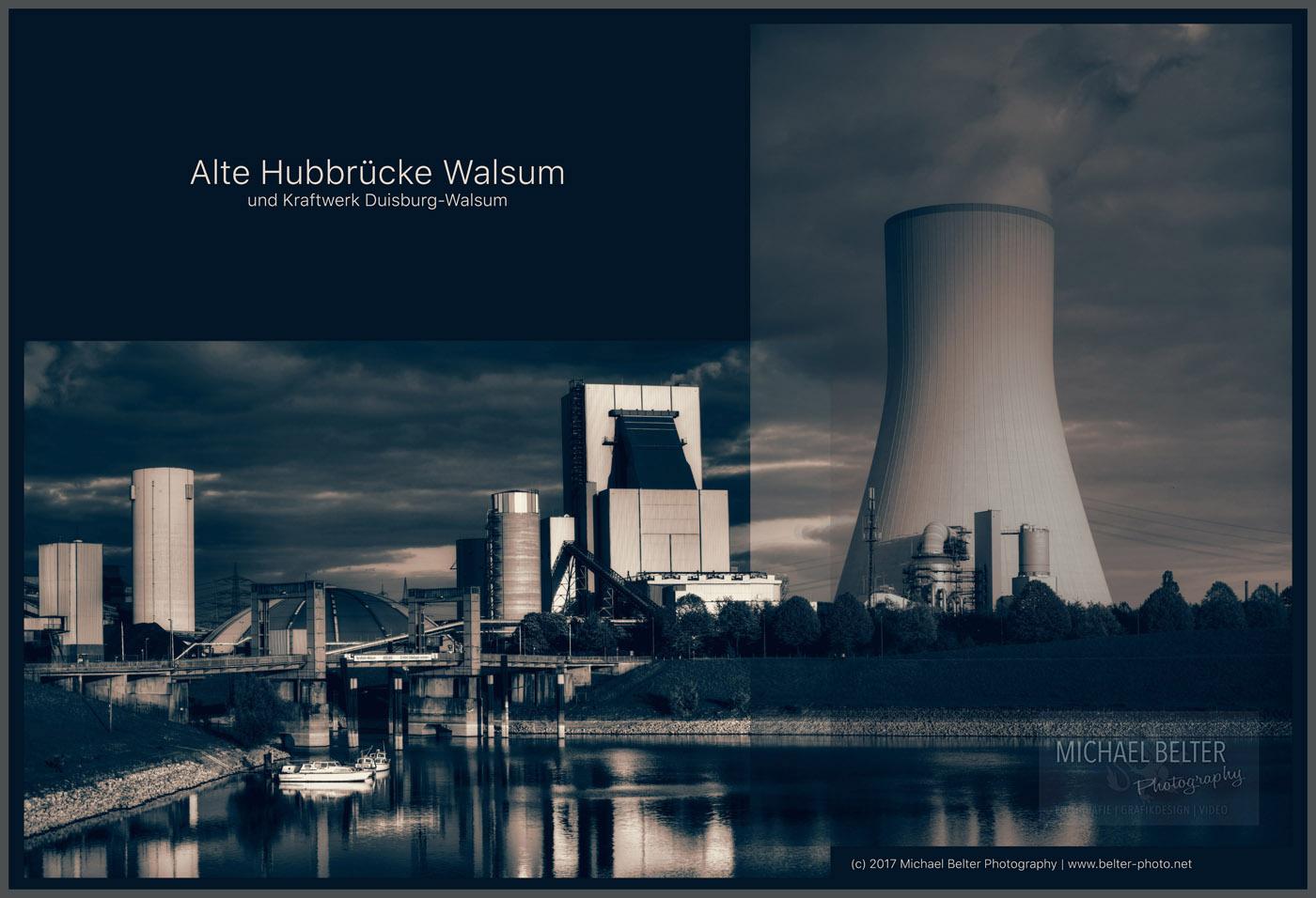 Alte Hubbrücke Walsum und Kraftwerk Walsum