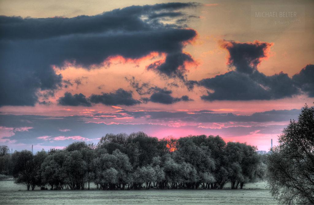 Bild 07: Sonnenuntergang im Deichvorland