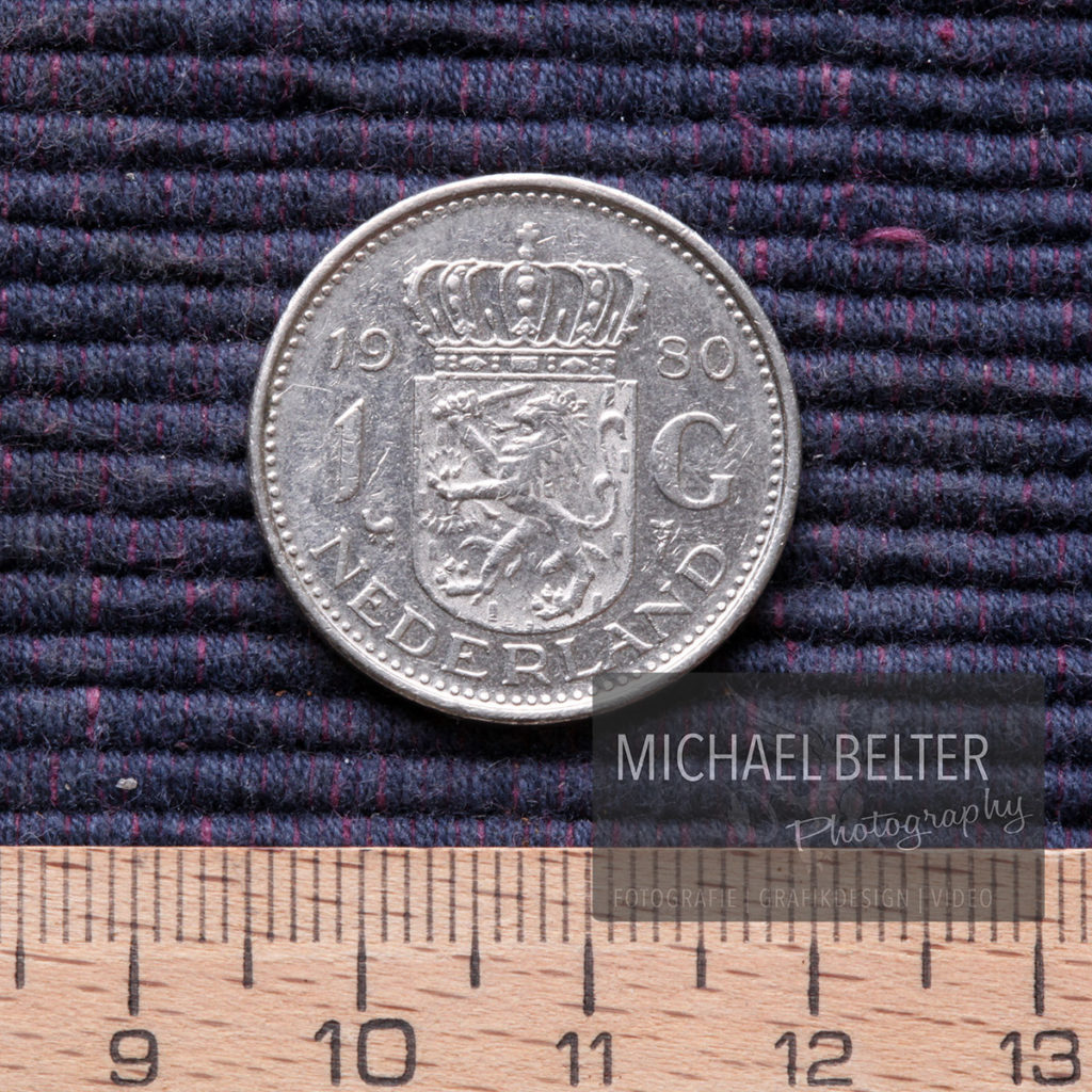 Makrofotografie 1 Gulden (NL 1980) © Michael Belter Photography